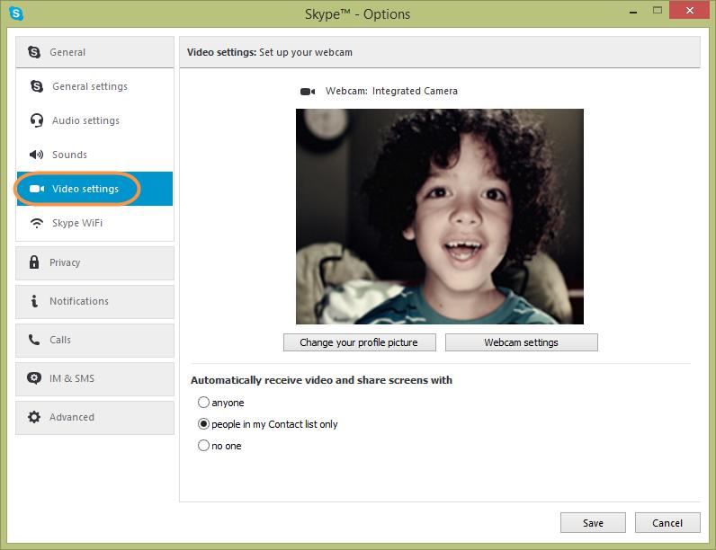 Как сделать камеру скайпе