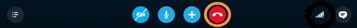 Botão Finalizar chamada na barra de chamadas.