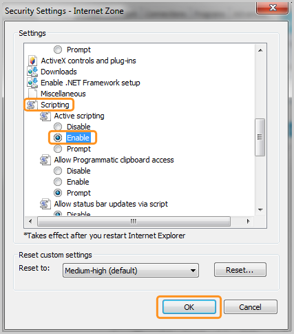 How do i enable javascript in my browser for skype skype support scripting enable and ok options selected in the internet zone window ccuart Image collections