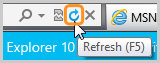 The refresh icon selected