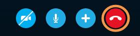 Botón Finalizar llamada de la barra de llamadas