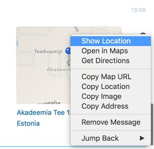 Send location (Envoyer l'emplacement)