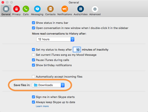 How Do I Find A File That I Ve Been Sent In Skype For Mac