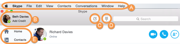 Skype application