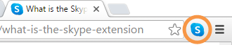 Skype extension in browser toolbar