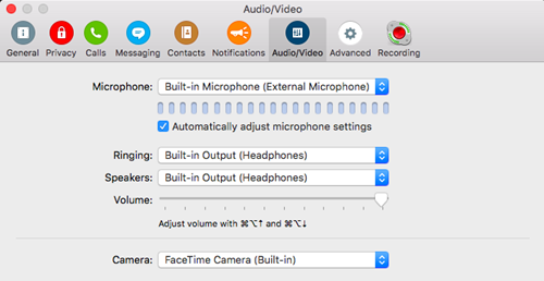 no sound skype mac os x