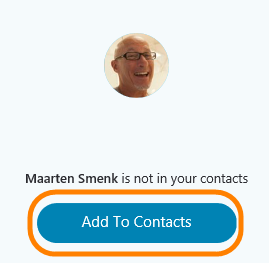 Add to contacts button