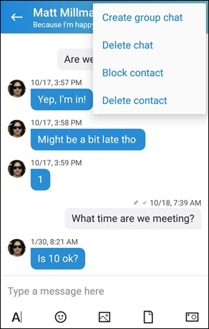 Block a contact on Android (4.0-5.0)