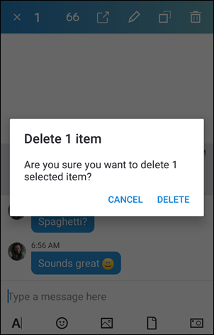 Remove a message on Android (4.0-5.0)