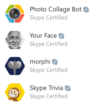 List of certified bots