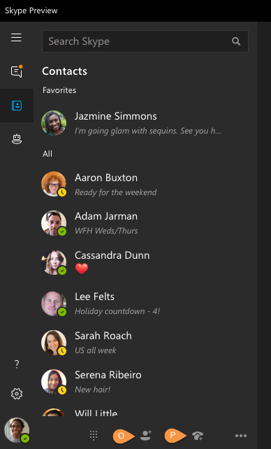 Find contact search the skype directory to find and add new