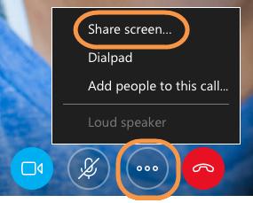 share screen skype