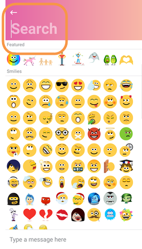 Emoticon search