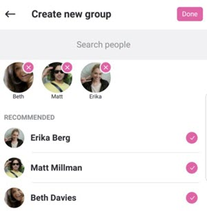 Create a new group chat