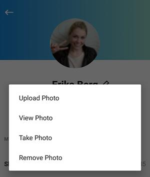 editar imagem do perfil