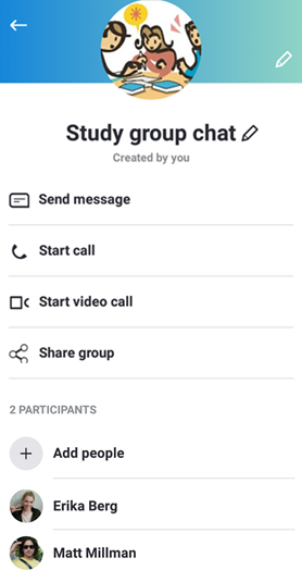 Group profile options