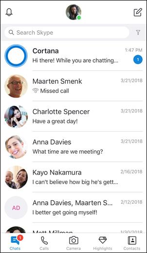 main iPhone screenshot