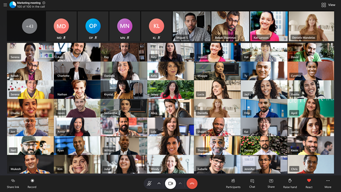 Large grid view with 49+ video feeds screenshot