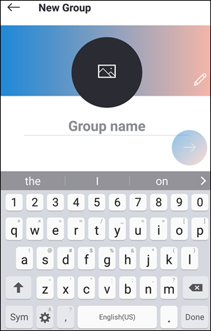 group chat creation Android 5.0 and above