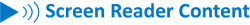 Screen reader content icon
