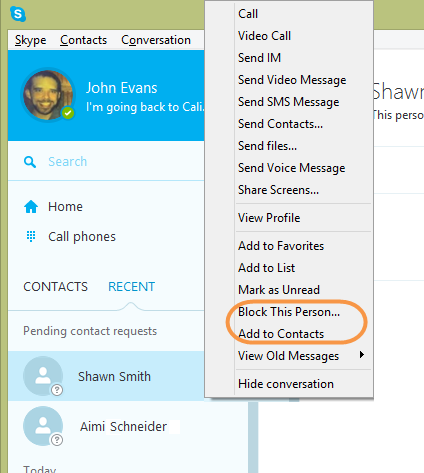 how to tell if you are blocked on skype