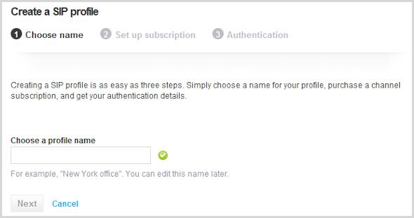 As informações de registro do perfil são exibidas