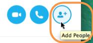 Liste des options qui s'affichent après la sélection de l'icône Plus.