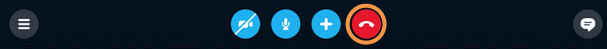 Icona per terminare la chiamata selezionata.