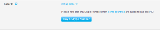 The Set up Caller ID button in the Caller ID section.