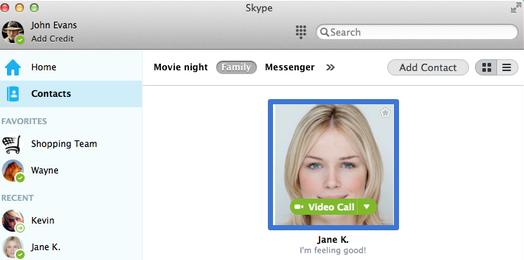 Avatar d'un contact à qui un message instantané sera envoyé.