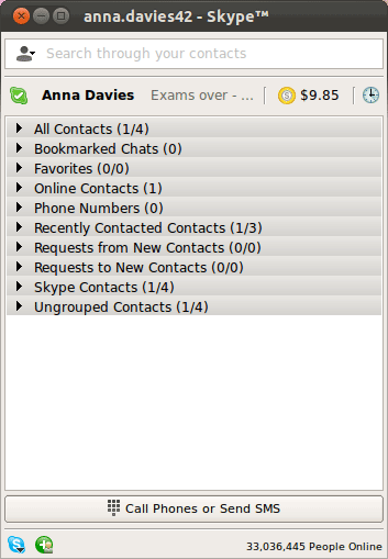 how to delete group contacts in skype