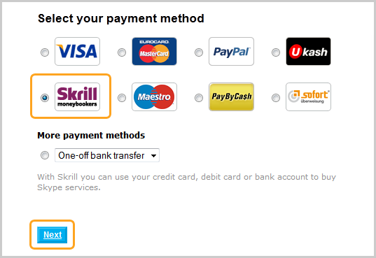 Order resume online with debit card