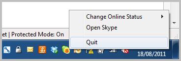 How can I remove Skype from the Windows taskbar?   Skype ...