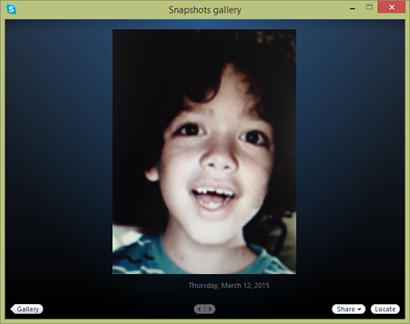 How do i take a picture skype support the snapshots gallery is automatically displayed ccuart Choice Image