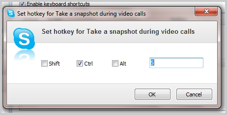 How can i take video snapshots using a hotkey skype support to change the hotkey click change selected shortcut from the options window and assign the new hotkey ccuart Choice Image