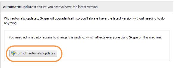 Updating skype on windows 7