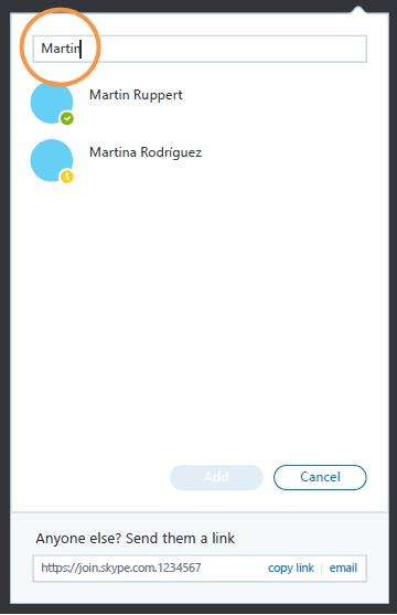 Área Grupo vacío donde puedes arrastrar contactos y añadirlos al grupo.