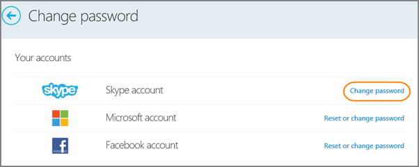как сменить пароль в skype
