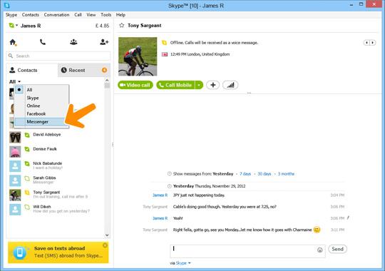 slette skype konto knull kontakt